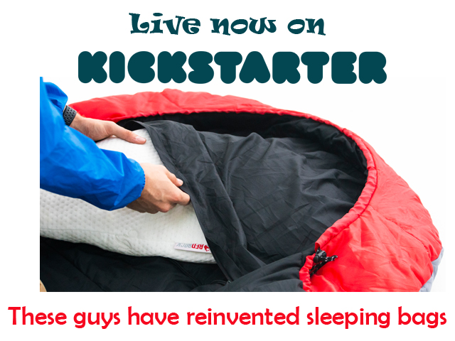 RedRock Sleeping Bags Now on Kickstarter